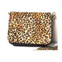 Animal Leopard Print Genuine Leather Belt Bag