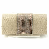 Crystal Band Evening Clutch Purse Handbag