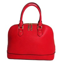 FABULOUS RED TOP HANDLE SATCHEL BAG
