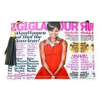Stunning Red Michelle Obama Tassel Magazine Envelope Clutch