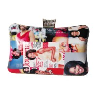 Glossy Multi Color Michelle Obama Evening Case Clutch