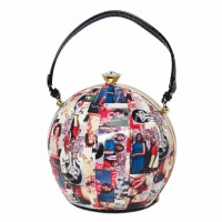 Whimsical Colorful Michelle Obama Beach Ball Top Handle Bag