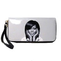 Black White Michelle Obama Wristlet Wallet