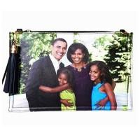 Stunning Obama Family Tassel Envelope Clutch