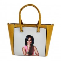 Gorgeous Mustard Yellow Jumbo Michelle Obama Tote Bag