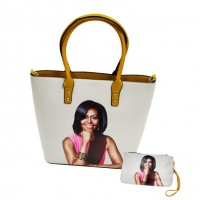 Gorgeous Mustard Yellow Michelle Obama Tote Pouch 2 In 1 Bags