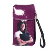 GORGEOUS PURPLE MICHELLE OBAMA SMARTPHONE WALLET WRISTLET CASE BAG