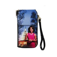Gorgeous Vibrant Lavender Michelle Obama Smartphone Wallet Wristlet Case Bag