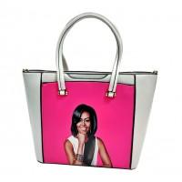 Vibrant Fuchsia Pink Jumbo Michelle Obama Tote Bag