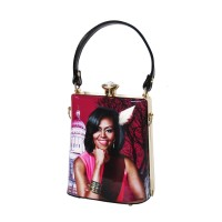 Gorgeous Berry Pink Michelle Obama Rhinestone Top Handle Bag