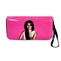 Vibrant Fuchsia Pink Michelle Obama Wristlet Wallet