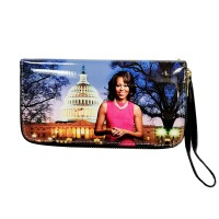 Gorgeous Lavender Michelle Obama Wristlet Wallet