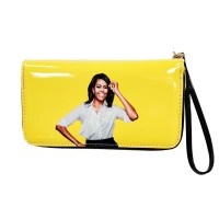 Vibrant Yellow Michelle Obama Wristlet Wallet