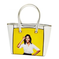 Gorgeous Vibrant Yellow Jumbo Michelle Obama Tote Bag