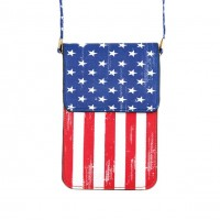 Patriotic American Flag Phone Case Cross Body Bag