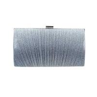 Elegant Gold Pleated Ray Evening Clutch Bag