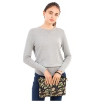 VERSATILE CAMOUFLAGE PRINT QUILTED PUFFER CROSS BODY BAG