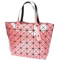 Glossy Pink Prism Tote Handbag