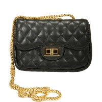 Iconic Black Quilted Chain Cross Body Bag