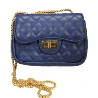 Iconic Blue Quilted Chain Cross Body Bag