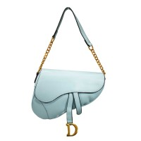 ICONIC LIGHT BLUE GUITAR STRAP CHAIN CROSSBODY BAG