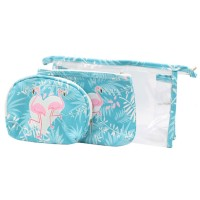 Dancing Blue Flamingos Beach Pouches 3 In 1