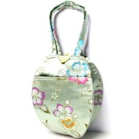 Gorgeous Handmade Teardrop silk brocade purse handbag