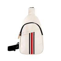 STYLISH WHITE STRIPED CROSS BODY SLING BAG