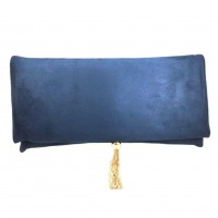 Gorgeous Navy Blue Tassel Envelope Purse Clutch Bag