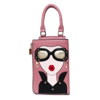 DESIGNED ICONIC SUNGLASSES TOP HANDLE CLUTCH BAG