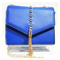 Blue Tassel Chain Cross Body Handbag