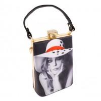Floppy Hat Model Rhinestone Top Handle Handbag