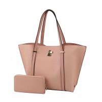 Classic Blush Pink Wallet Tote 2 in 1 Bags