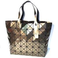Glossy Brown Prism Tote Handbag