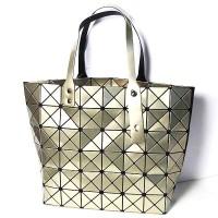 Glossy Gold Prism Tote Handbag