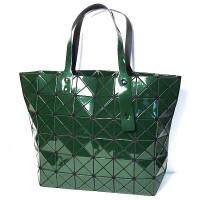 Glossy Green Prism Tote Handbag