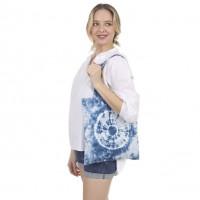Blue Tie Dye Canvas Eco Bag