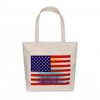 Stars & Stripes Patriotic American Flag Canvas Eco Bag
