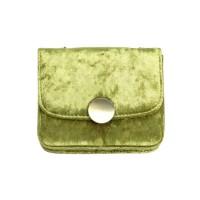 Gorgeous Avocado Green Velvet Chain Cross Body Belt Bag