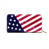 Stars & Stripes Patriotic American Flag Wallet