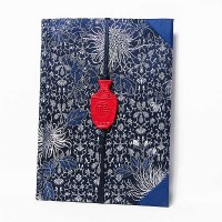 Vintage Navy Blue Silk Brocade Scholarly Notebook