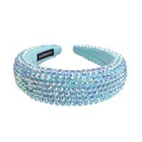 Glittering Romantic Jumbo Blue Multi Faceted Beaded Headband