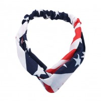 Stars And Stripes Patriotic America Flag Print Knot Headband