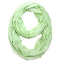 Solid Infinity Silk Cotton Circle Two Loop Scarf