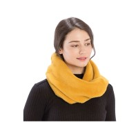 Gorgeous Mustard Yellow Furry Mink Infinity Scarf