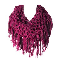 Purple Fishnet Infinity Doube Loop Collar Scarf