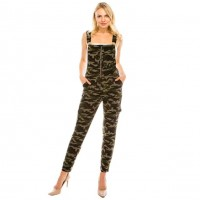 Camouflage Pockets Jumpsuit Overalls
