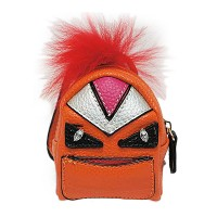 Orange Fur Monster Backpack Bag Charm Key Chain