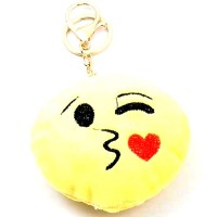 A Kiss Smiley Face Handbag Charm Key Chain