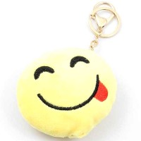 Emoji Smiley Face Handbag Charm Key Chain